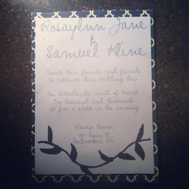 Real Simple and Elegant Wedding Invitation