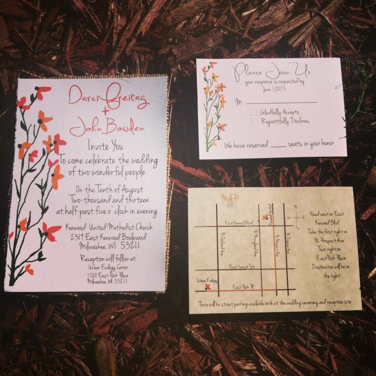 Rustic Floral invitations