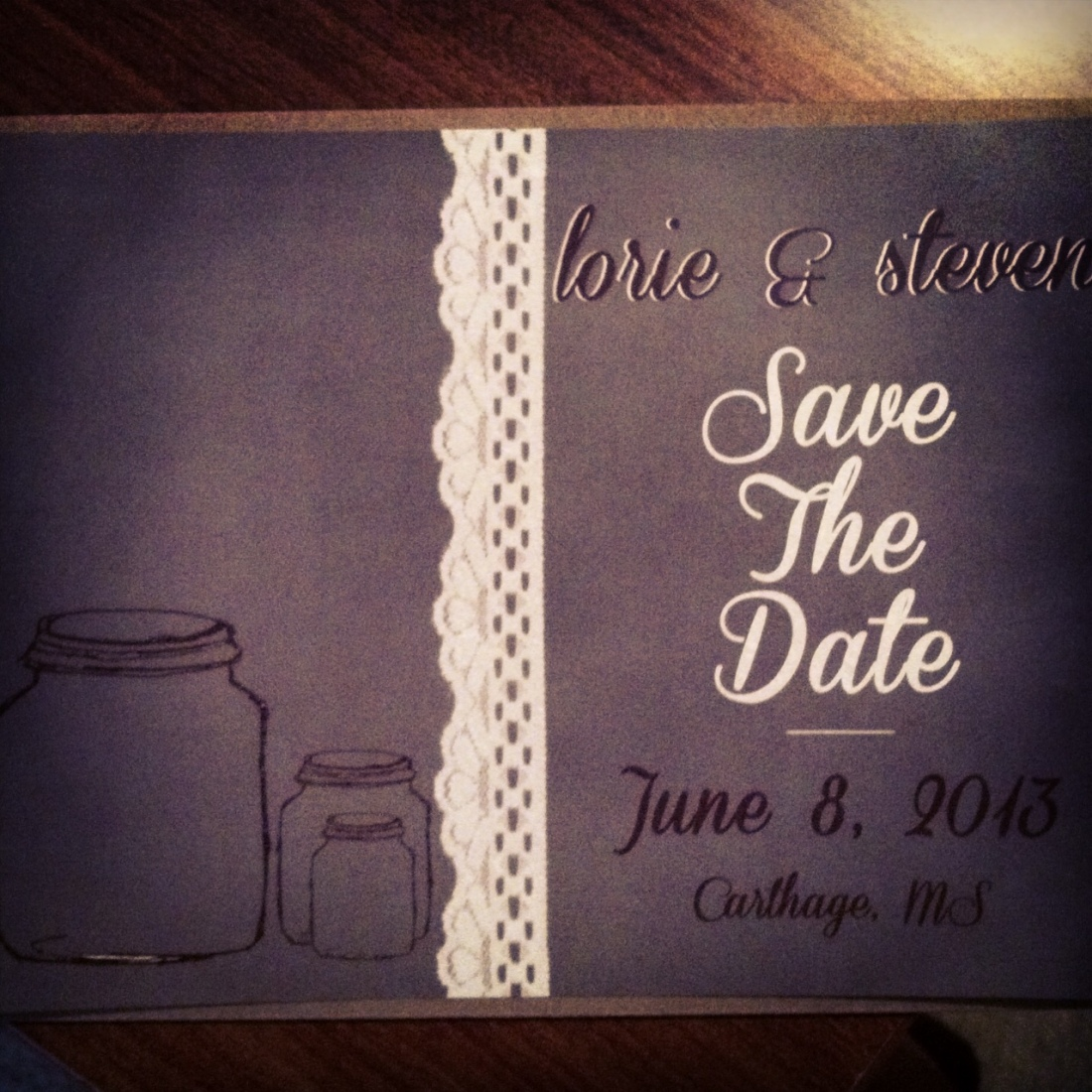 Lori and Steven's save the date postcards came out lovely#savethedatest lovely#savethedates#weddings #wedd