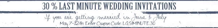 Last minute weddings June and July~