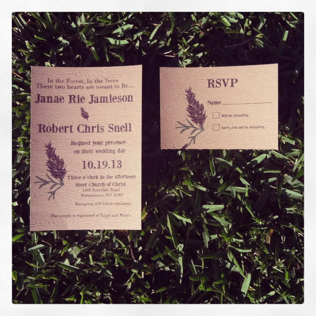 Pines and Needles Wedding Invitation