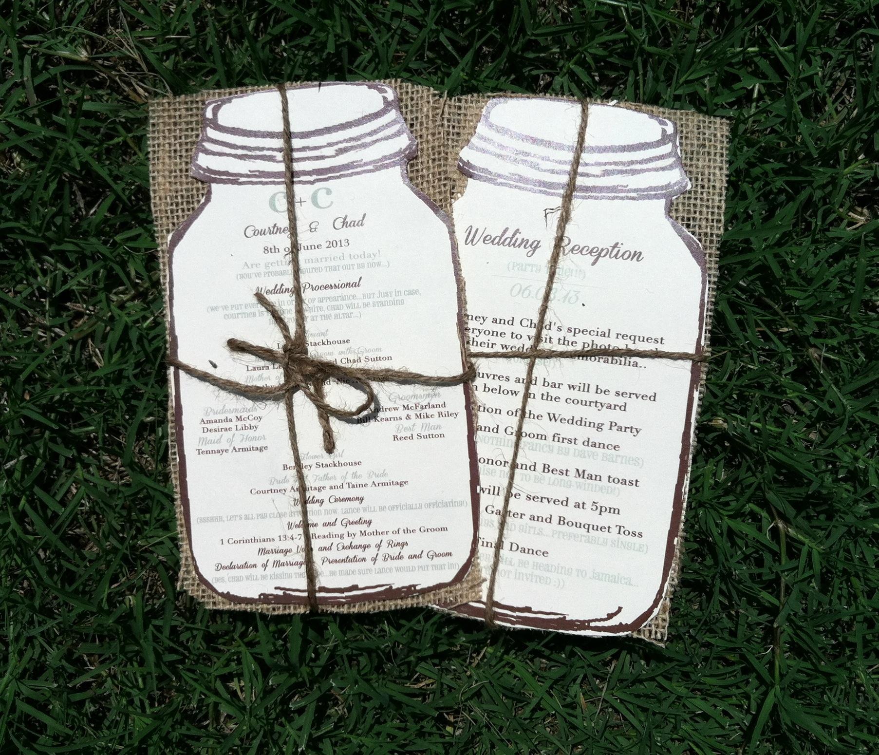 Mason Jar Themed Weddings!