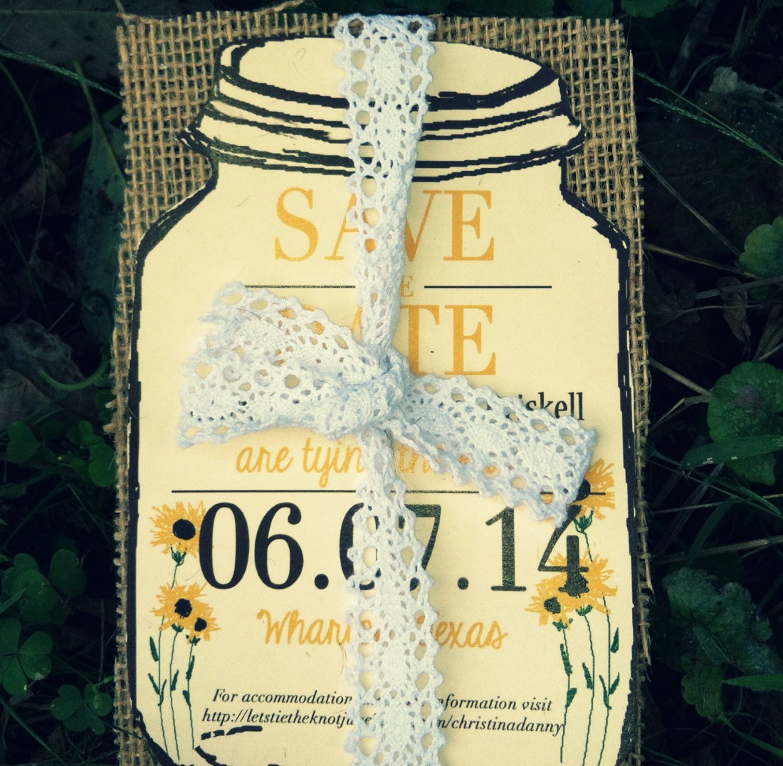 Mason Jar Save the Date to pick out that day!