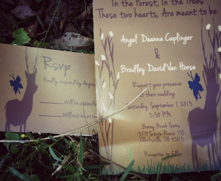 Buck and Butterfly Wedding Invitation
