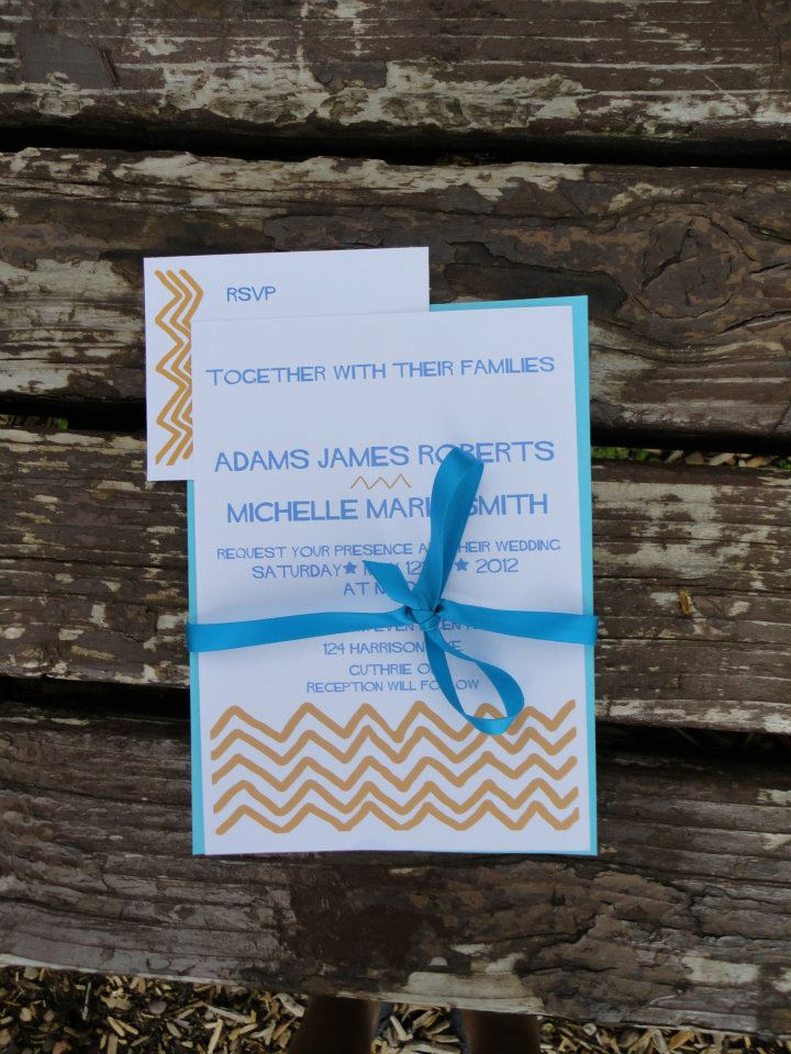 Blue Chevron Wedding