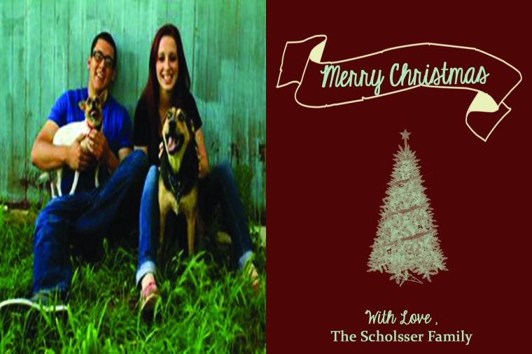 Family Christmas Postcards