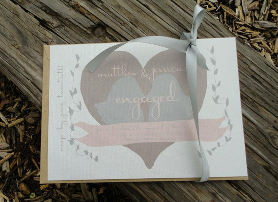 Lovebird Engagement Party Invitations