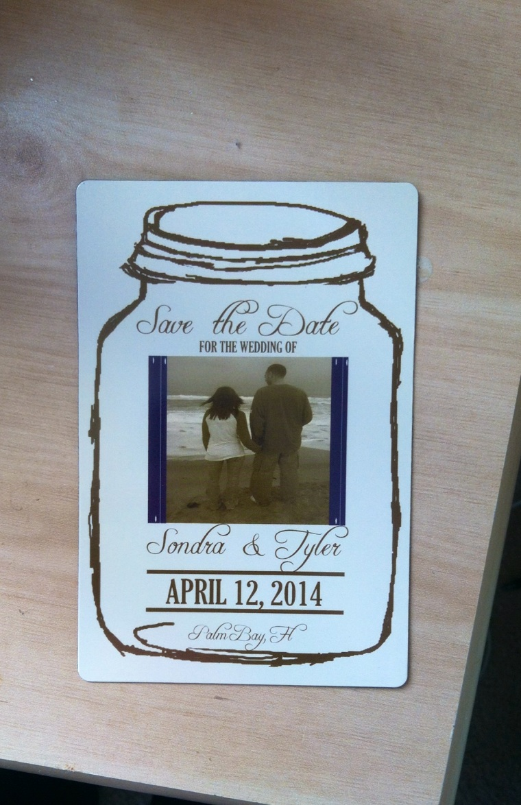 Save the Date magnets with photo inside