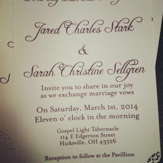 Simple, but Elegant Wedding Invitations with decorative edges