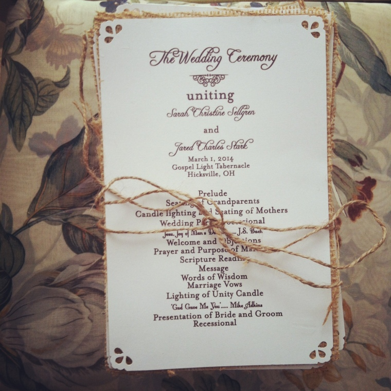 Rustic Clean Wedding Programs