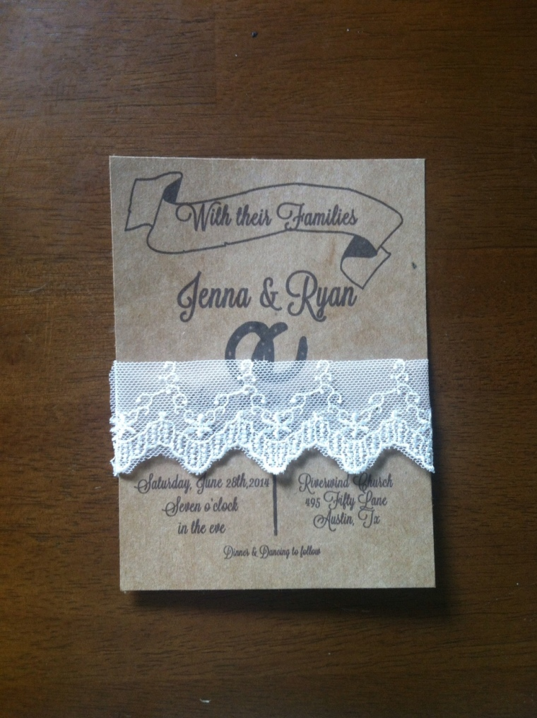 Rustic Western Kraft Wedding Invite