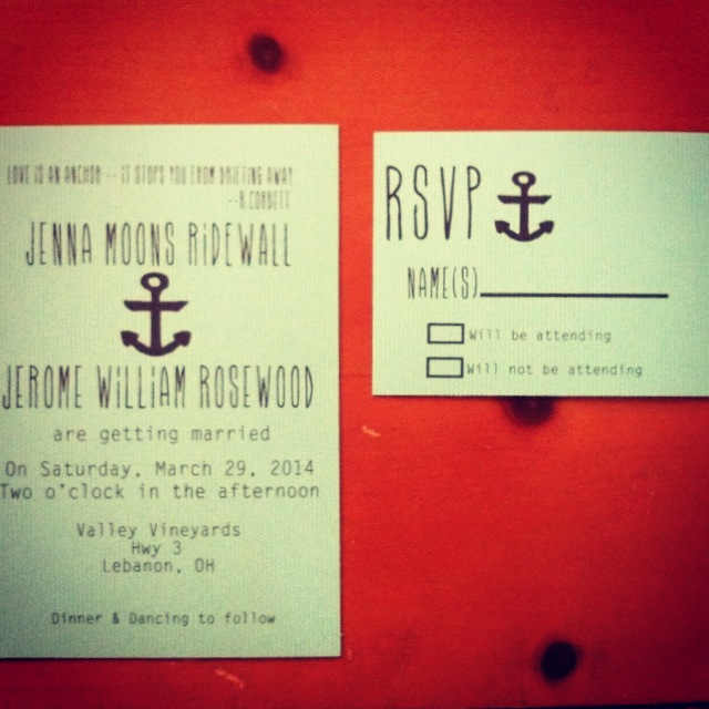 Feature Sale for Anchor wedding Invitation with rsvp cards