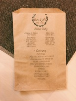 Kraft bag wedding programs