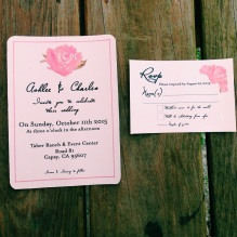 Peony invitations